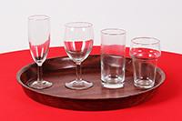 servies diverse glazen